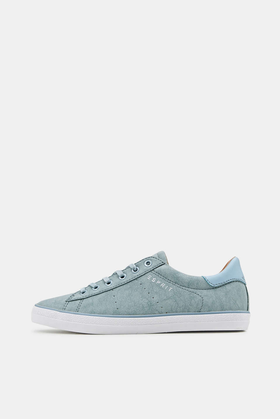 Esprit - Flacher Sneaker in Leder-Optik