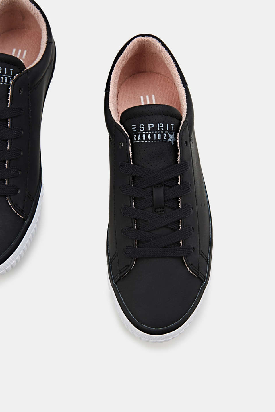 Lace-up trainers with a perforated pattern, BLACK, detail image number 1