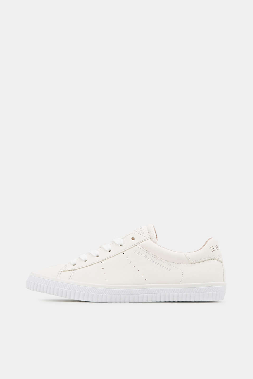 Esprit - Lace-up trainers with a perforated pattern