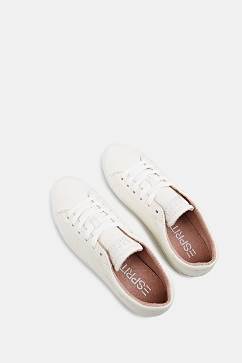 Lace-up trainers with a perforated pattern