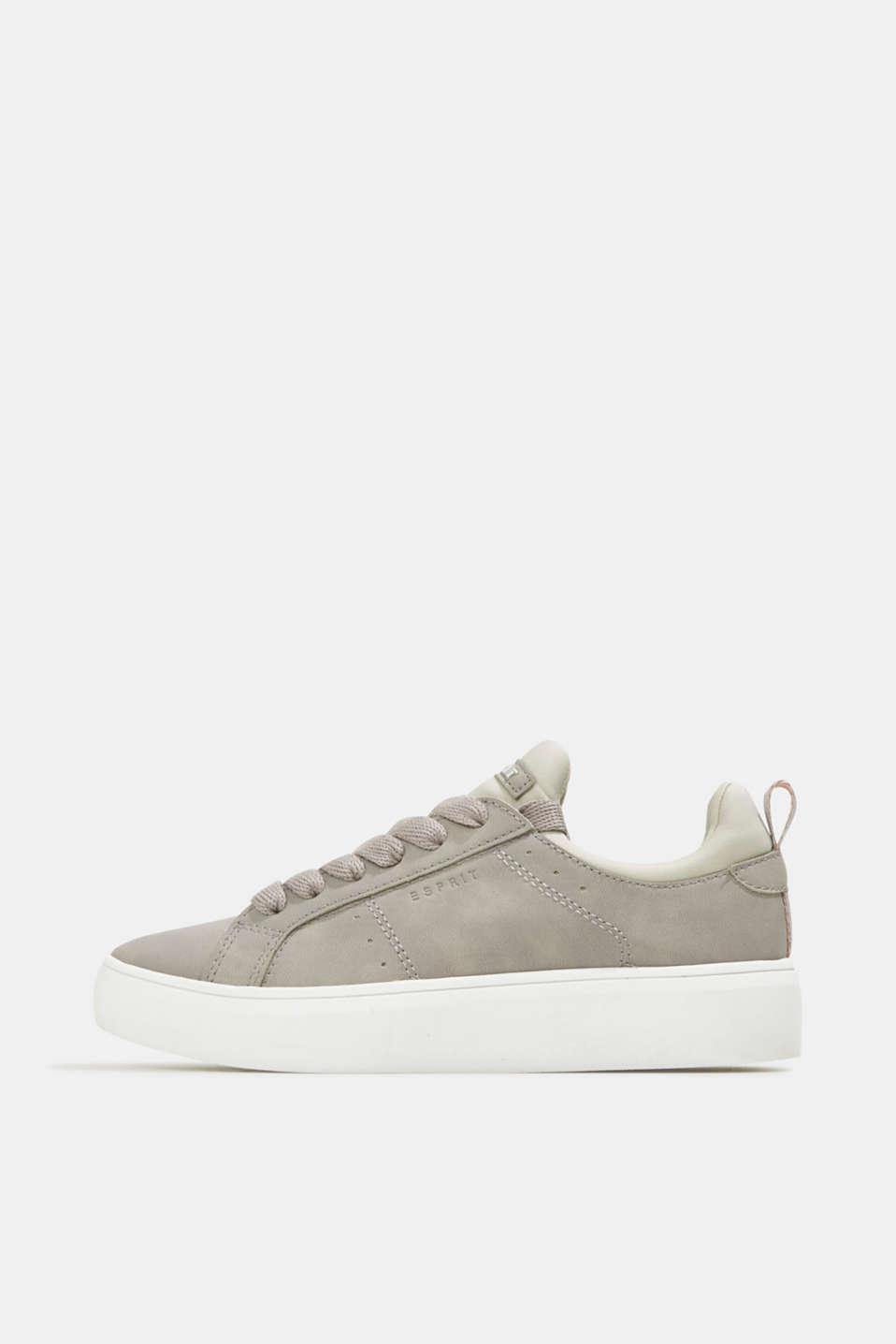 Esprit - Faux leather trainers with a wide sole
