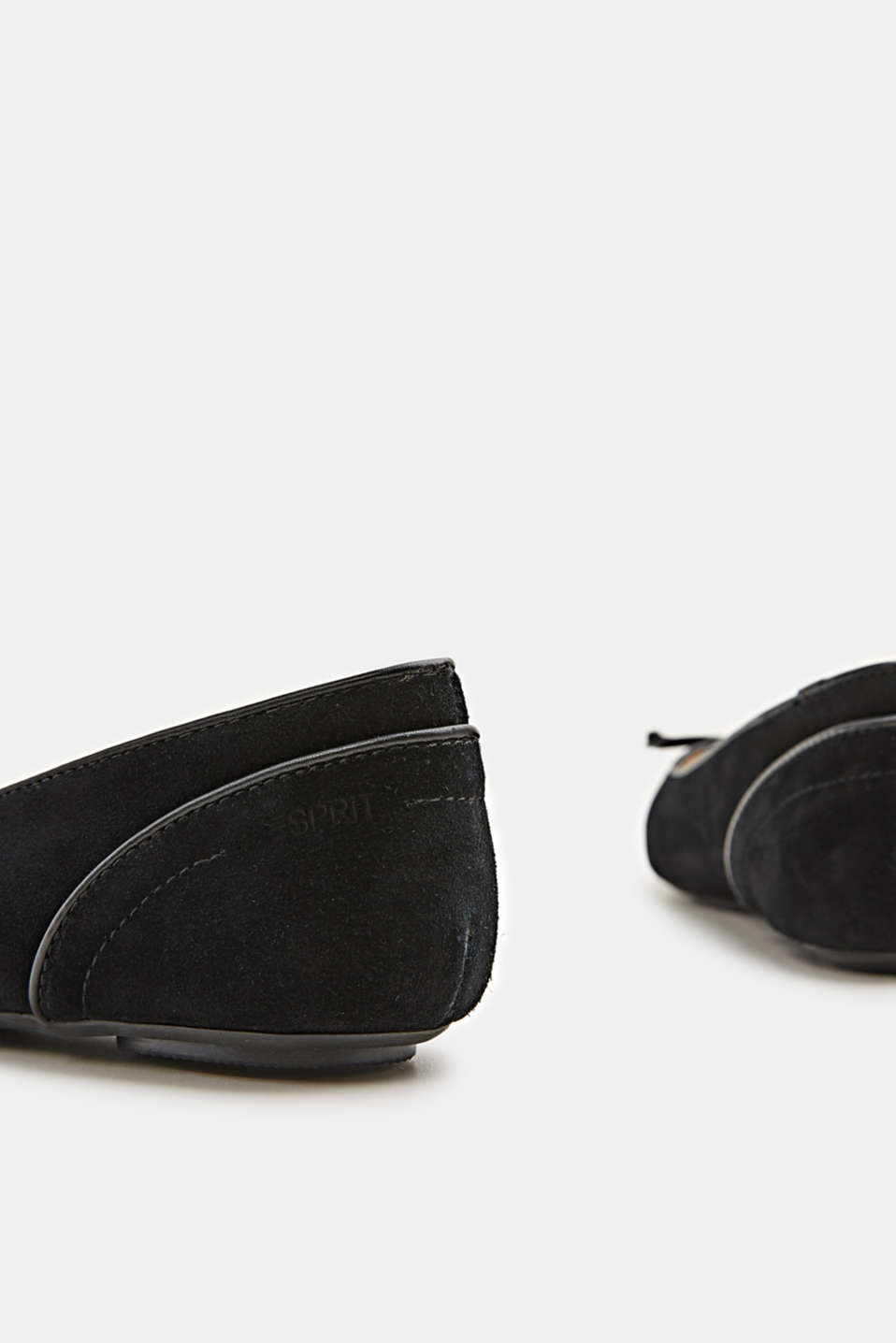 Basic suede ballerinas, BLACK, detail image number 4