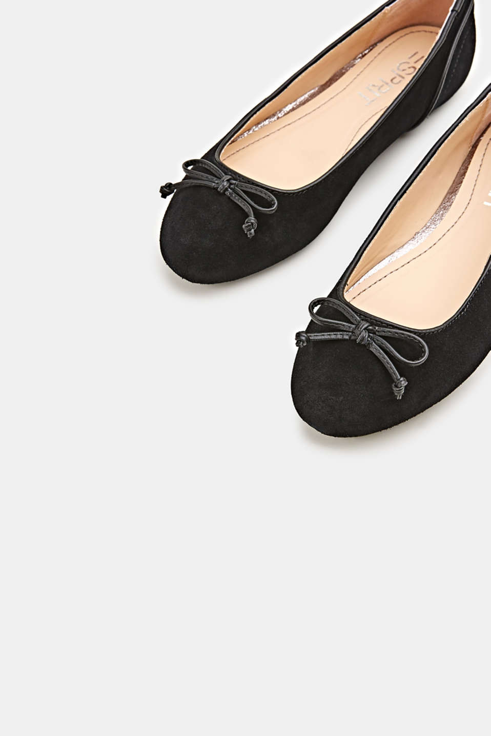 Basic suede ballerinas, BLACK, detail image number 3