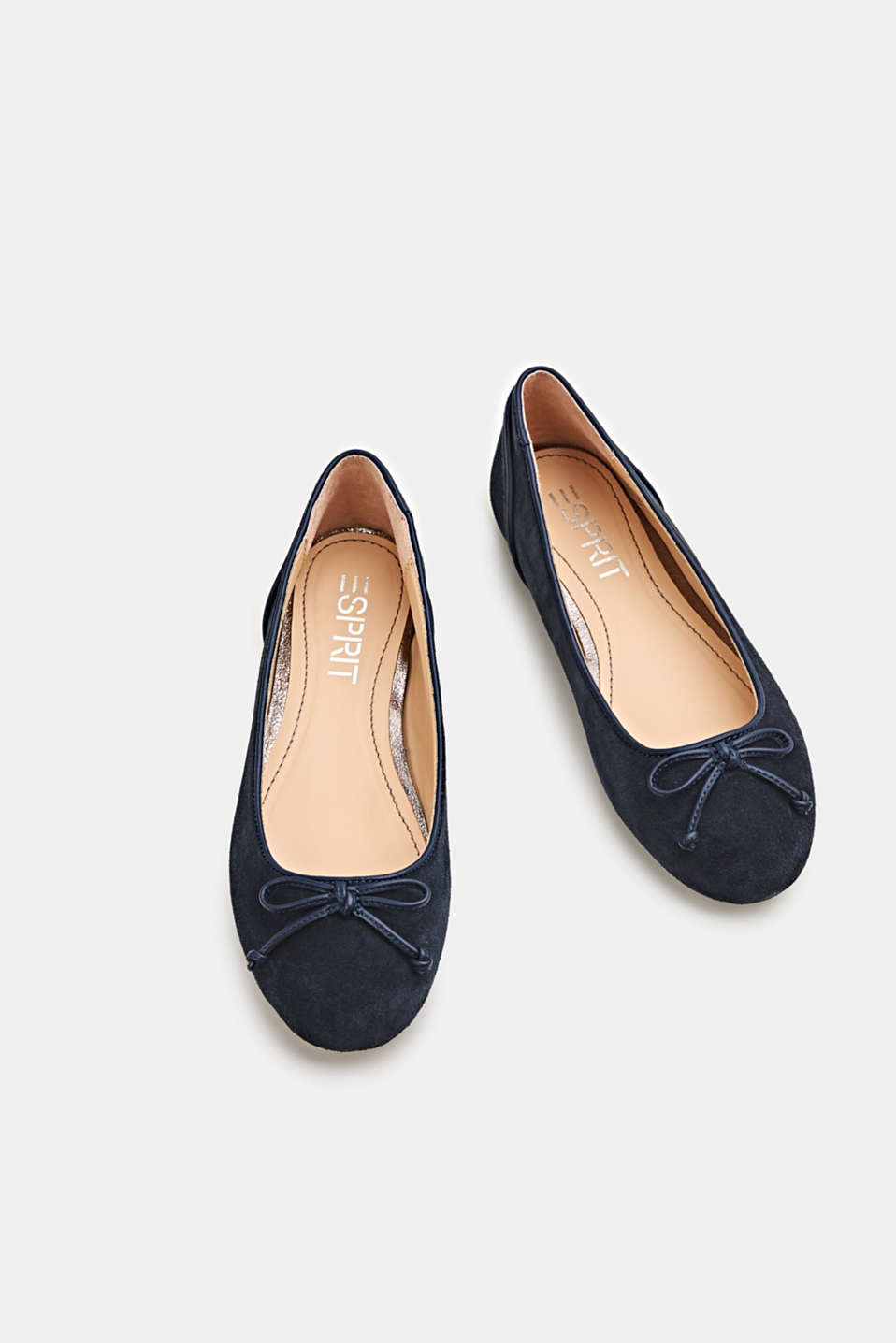 Basic suede ballerinas, NAVY, detail image number 1