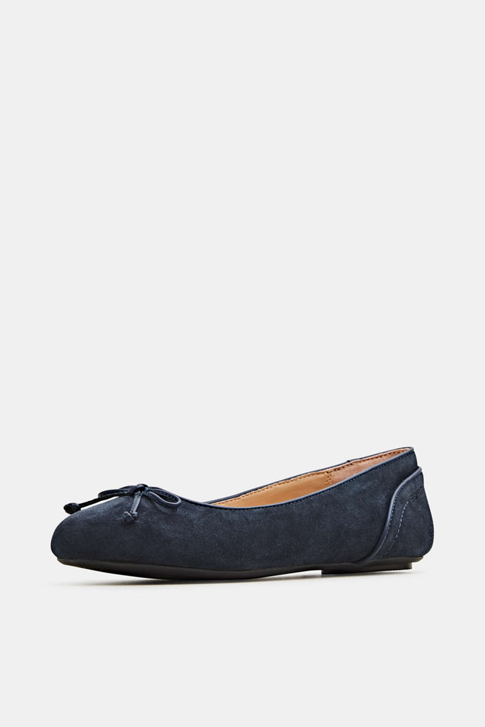 Basic suede ballerinas, NAVY, detail image number 2