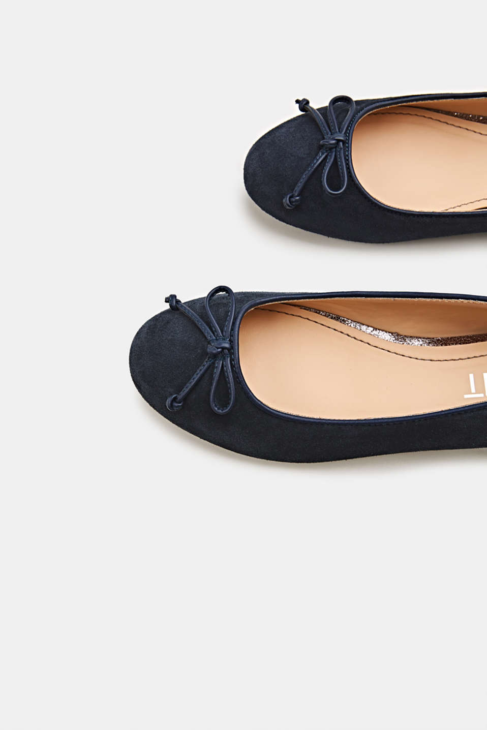 Basic suede ballerinas, NAVY, detail image number 4