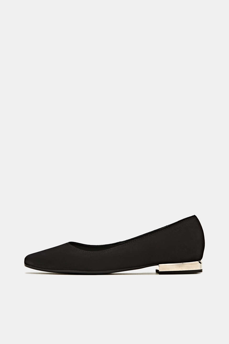 Esprit - Made of suede: ballerinas with a shiny heel