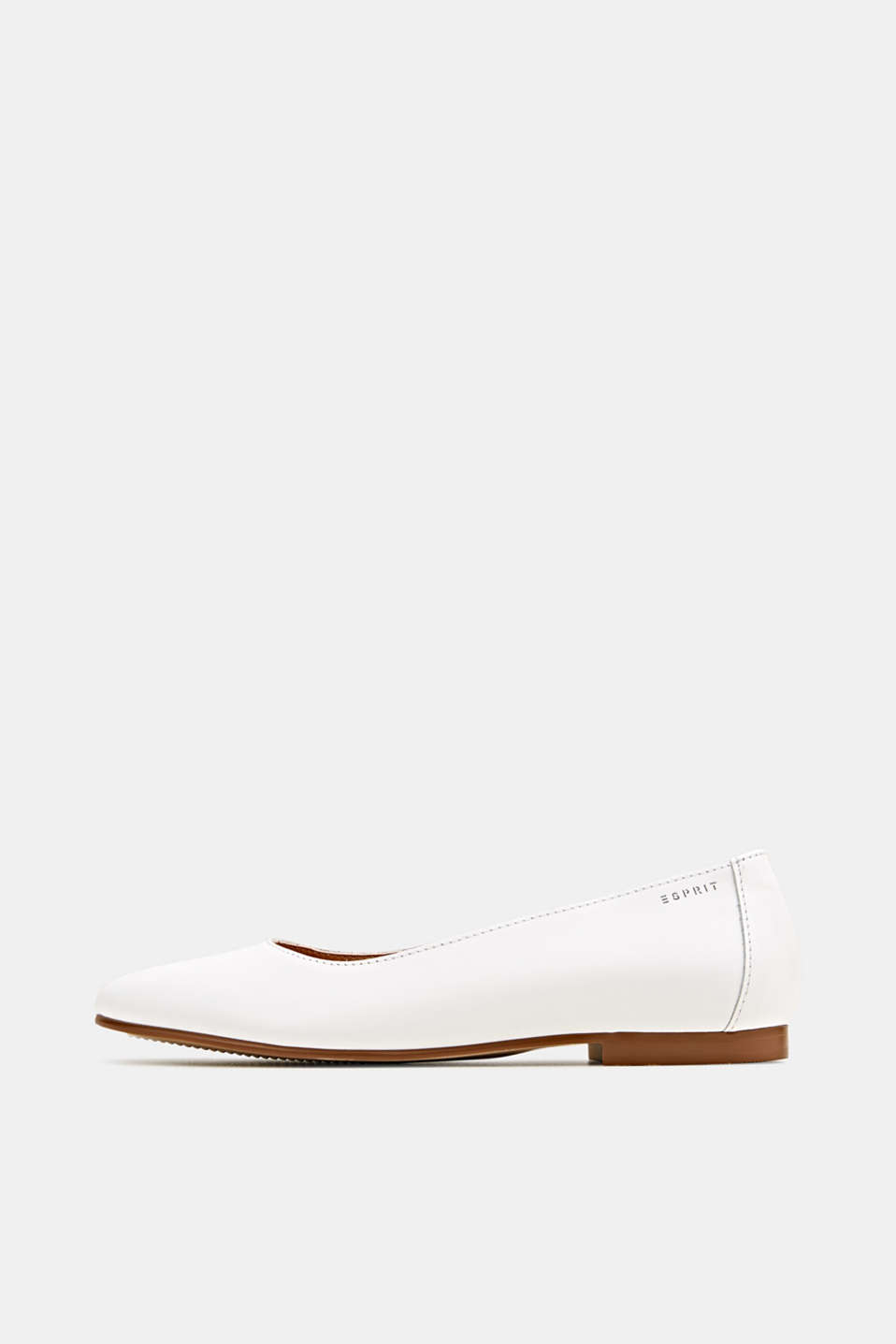 Esprit - Made of leather: purely styled ballerinas