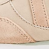 Mixed material trainers with open-work pattern, SKIN BEIGE, swatch
