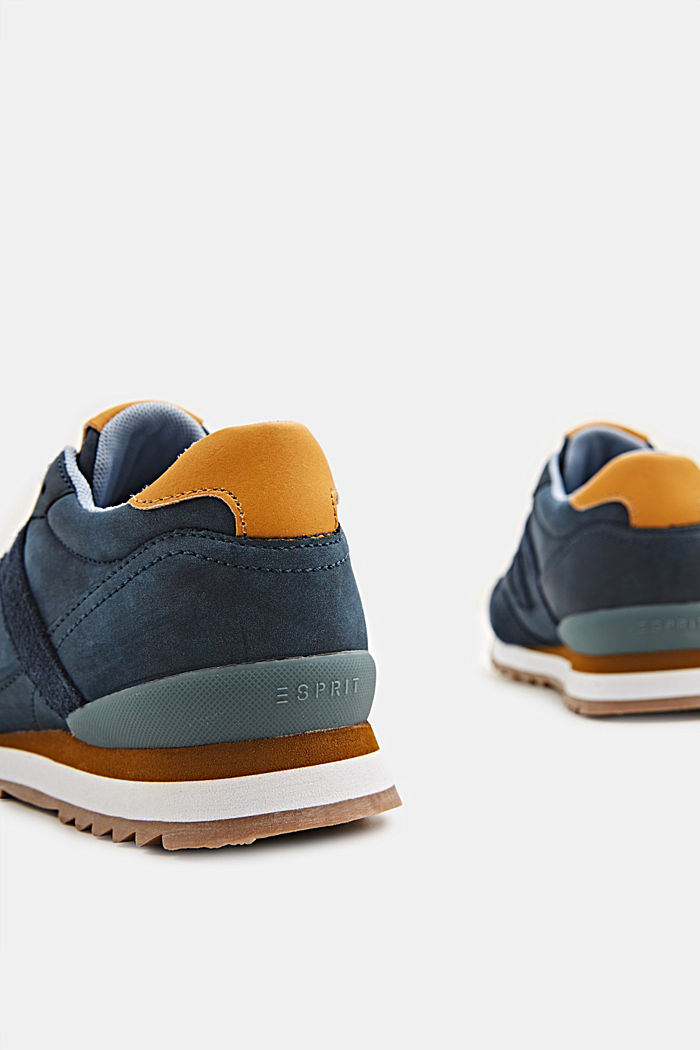 Mixed material trainers with open-work pattern, NAVY, detail image number 4