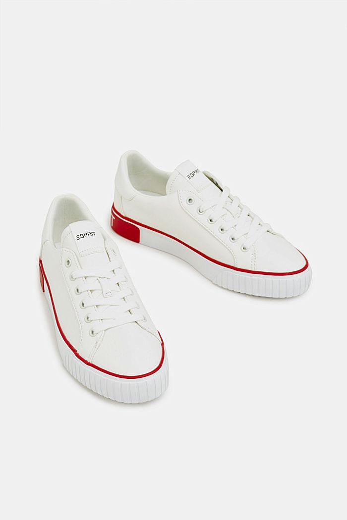 Sneakers met contrastdetails, RED, detail image number 1