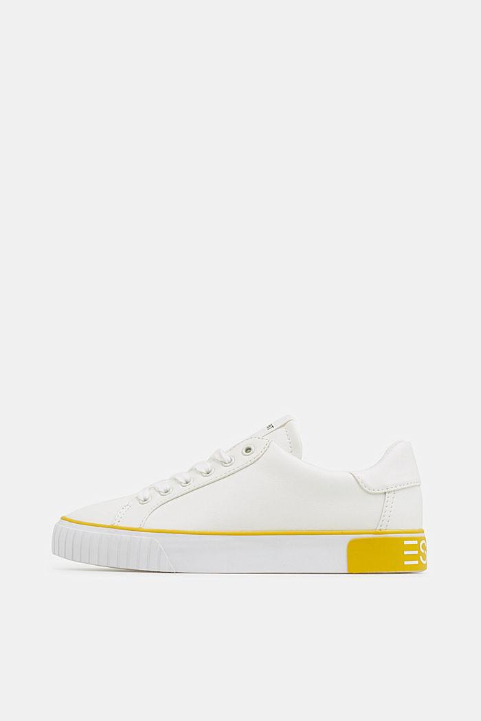Sneaker mit Kontrast-Details, YELLOW, detail image number 0