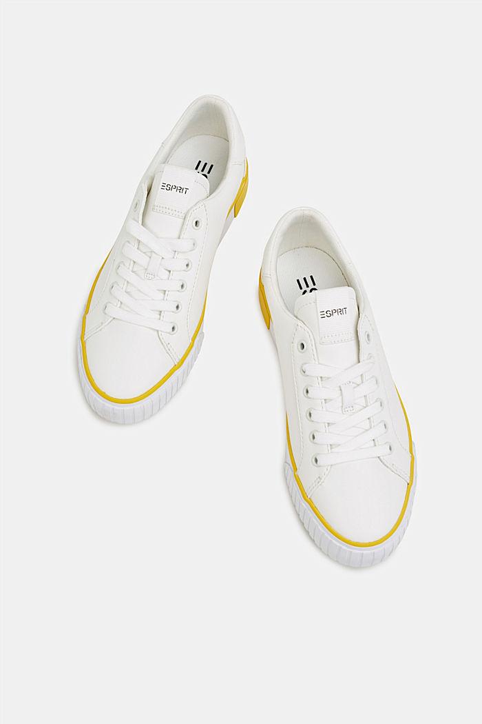 Sneaker mit Kontrast-Details, YELLOW, detail image number 1