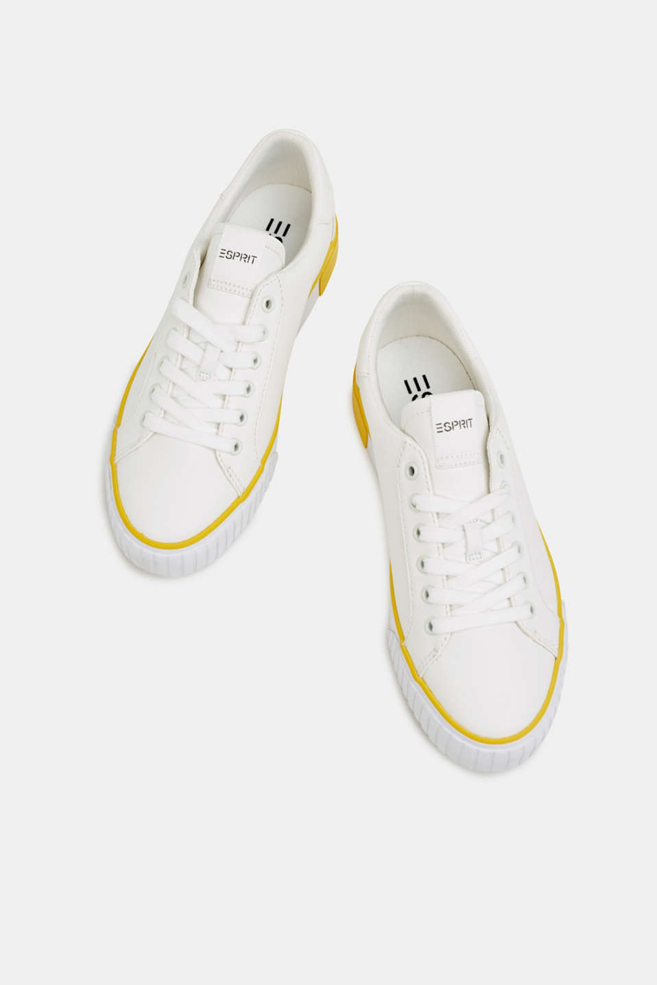Trainers with contrasting details, YELLOW, detail image number 1