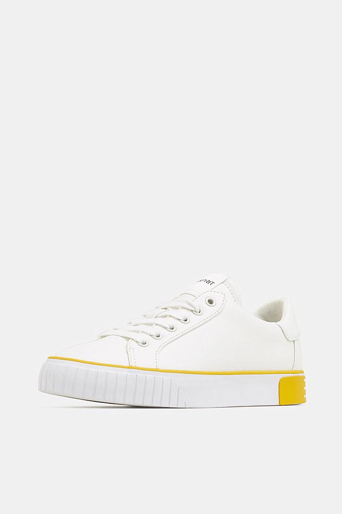 Sneaker mit Kontrast-Details, YELLOW, detail image number 2