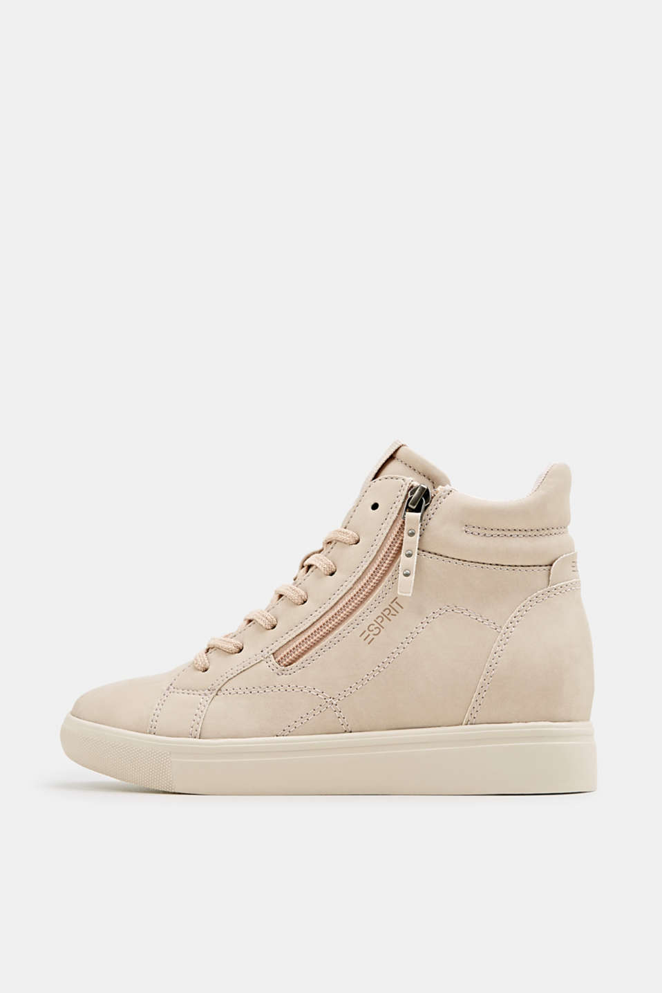 Esprit - Wedge-Sneaker in Nubuk-Optik