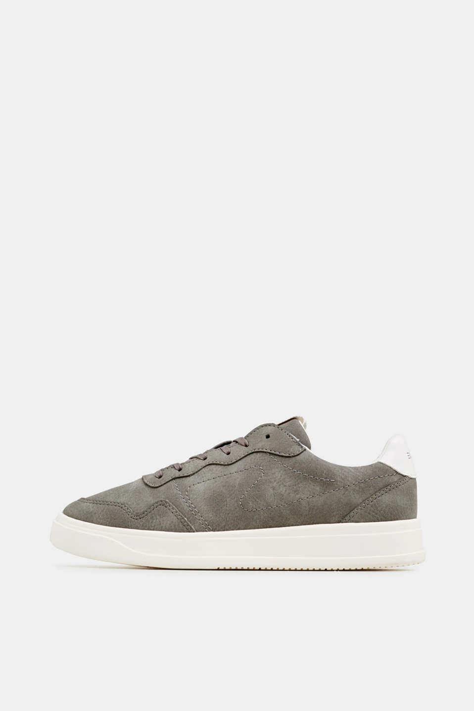 Esprit - Retro trainers in faux nubuck leather