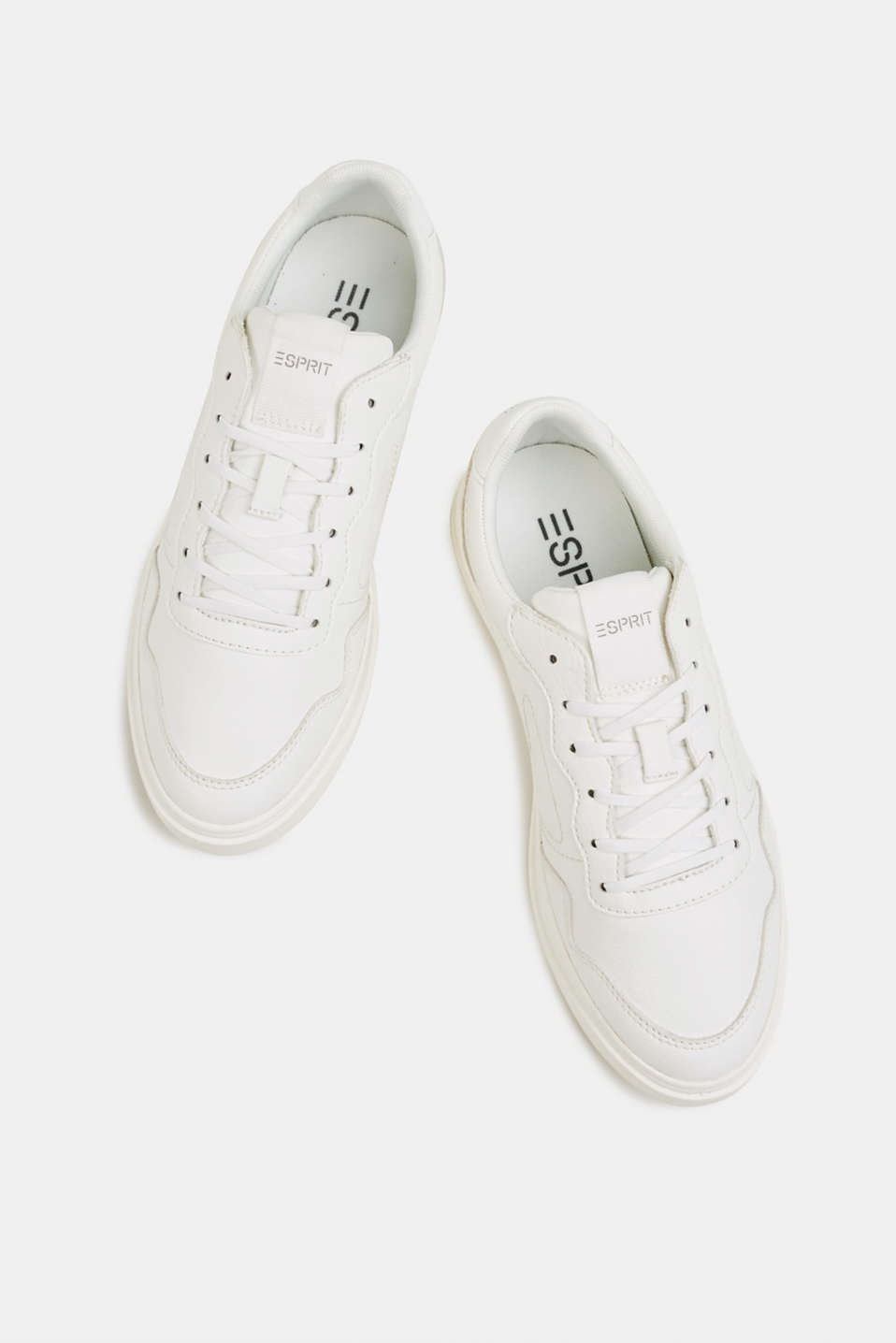 Retro trainers in faux nubuck leather, WHITE, detail image number 1