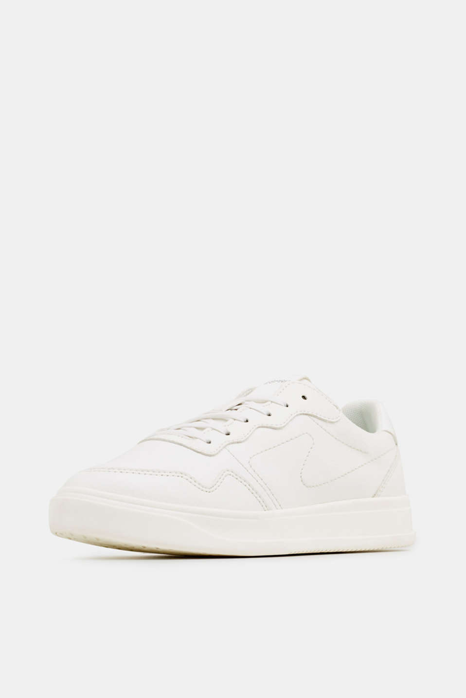 Retro trainers in faux nubuck leather, WHITE, detail image number 2