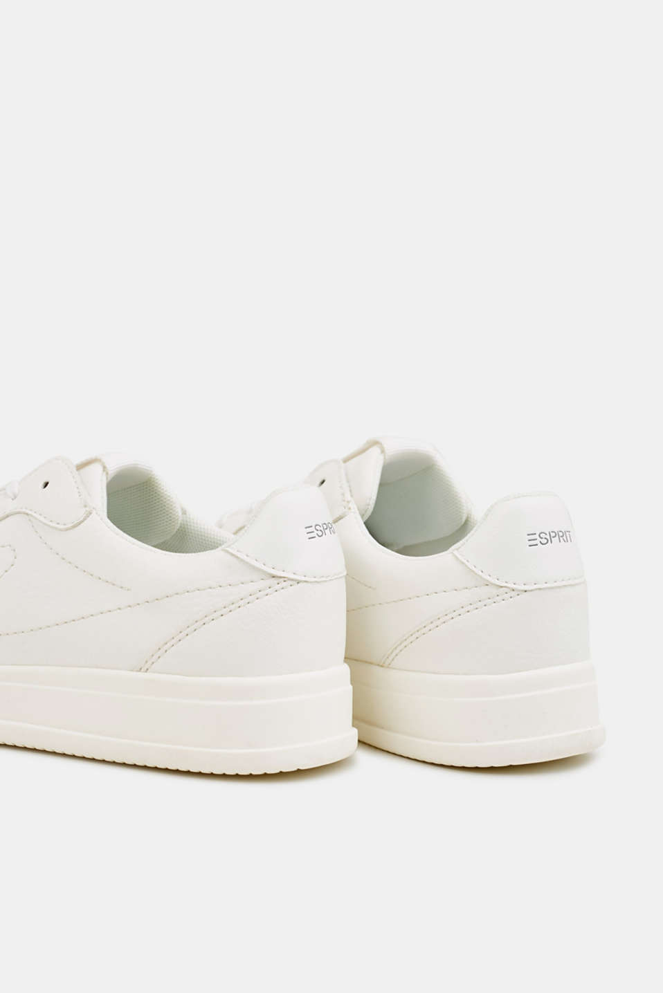 Retro trainers in faux nubuck leather, WHITE, detail image number 5