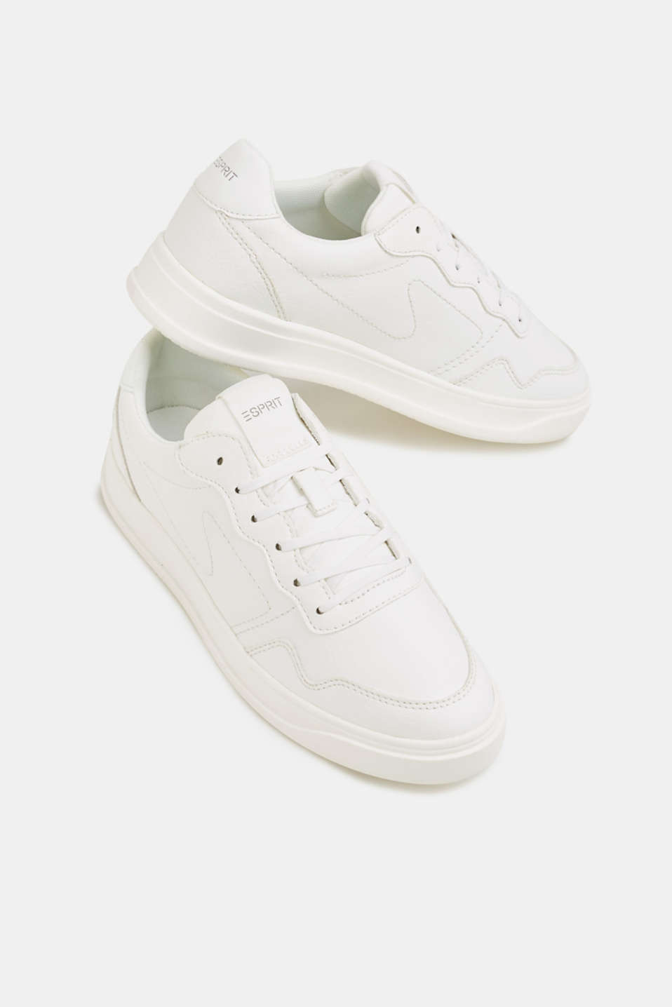 Retro trainers in faux nubuck leather, WHITE, detail image number 6