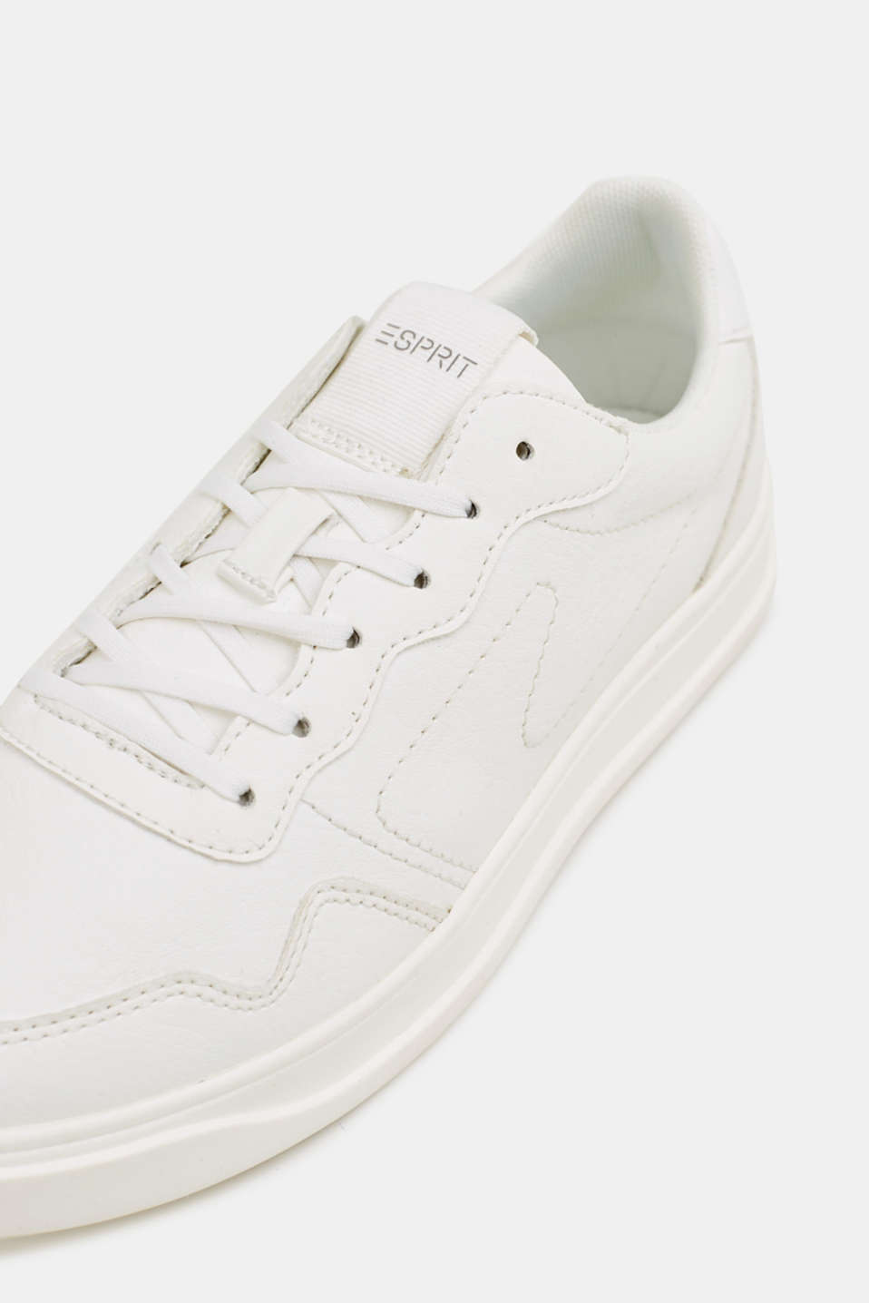 Retro trainers in faux nubuck leather, WHITE, detail image number 4