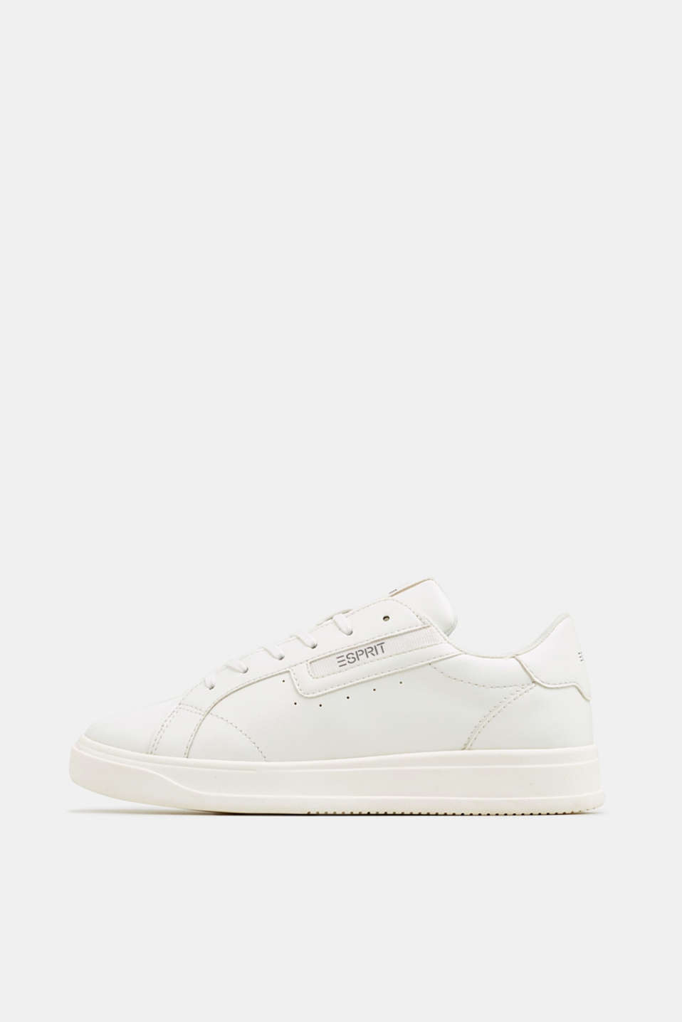 Trendy, faux leather trainers, WHITE, detail image number 0