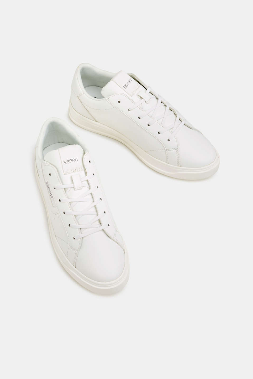 Trendy, faux leather trainers, WHITE, detail image number 1