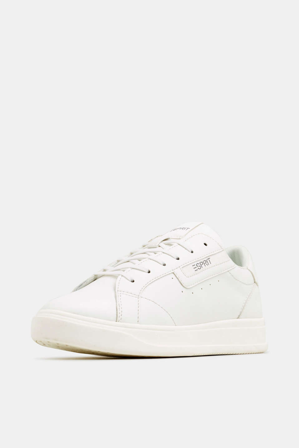Trendy, faux leather trainers, WHITE, detail image number 2