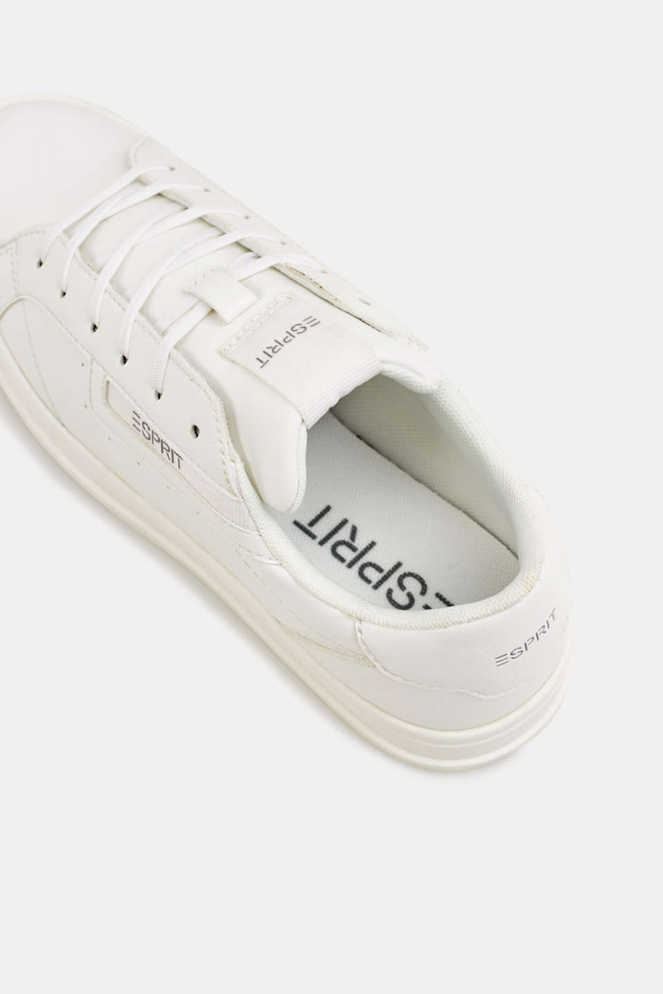 Trendy, faux leather trainers, WHITE, detail image number 6
