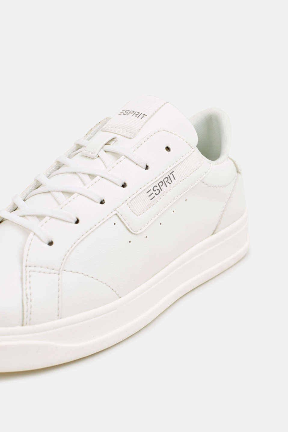 Trendy, faux leather trainers, WHITE, detail image number 4