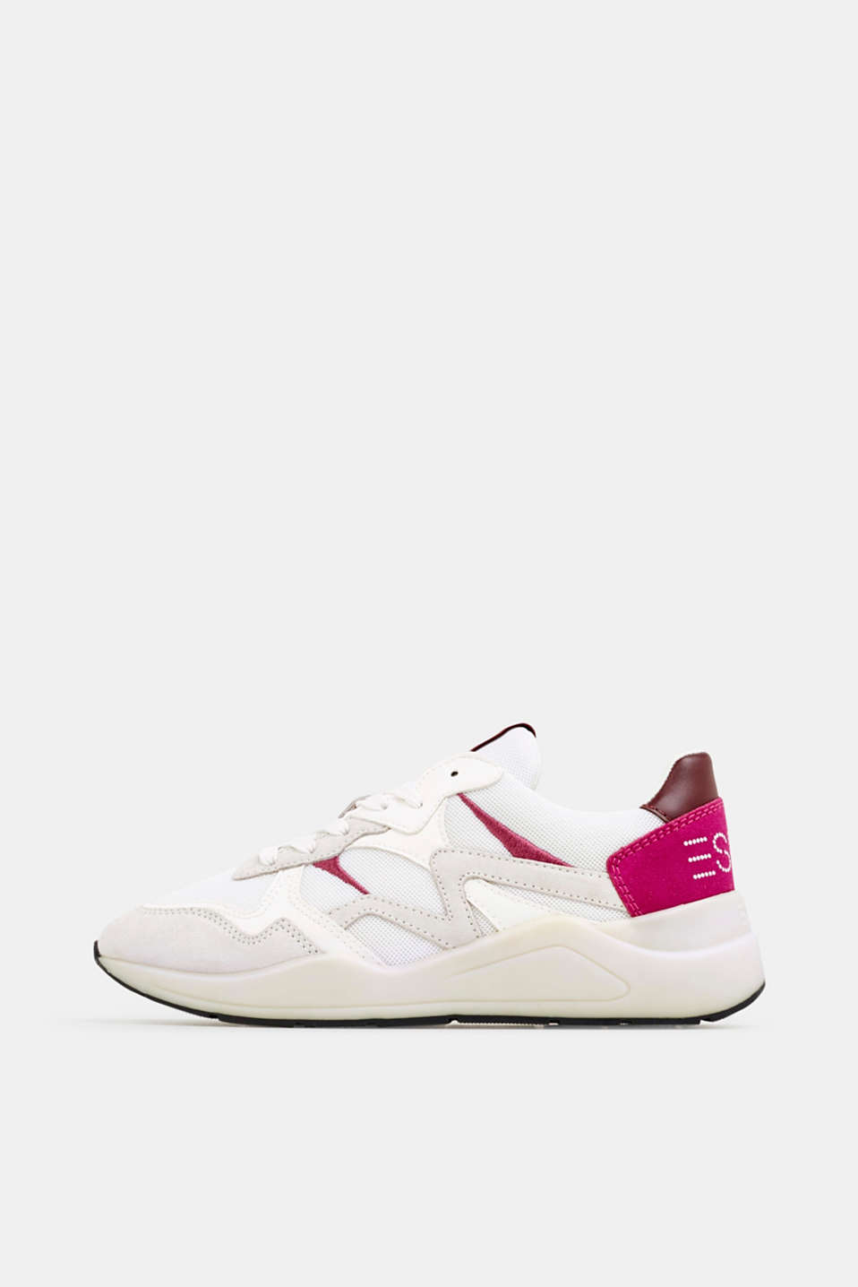 Trainers in a mix of materials, WHITE, detail image number 0