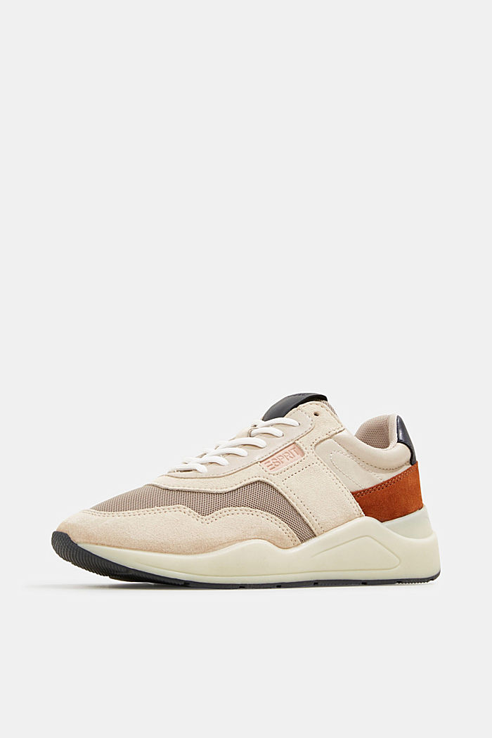 Lace-up shoes in a material mix, LIGHT BEIGE, detail image number 2