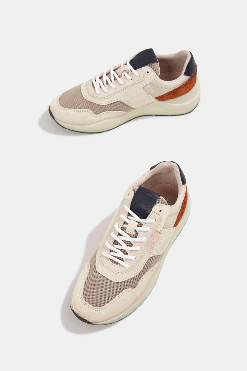 Lace-up shoes in a material mix, LIGHT BEIGE, detail image number 6