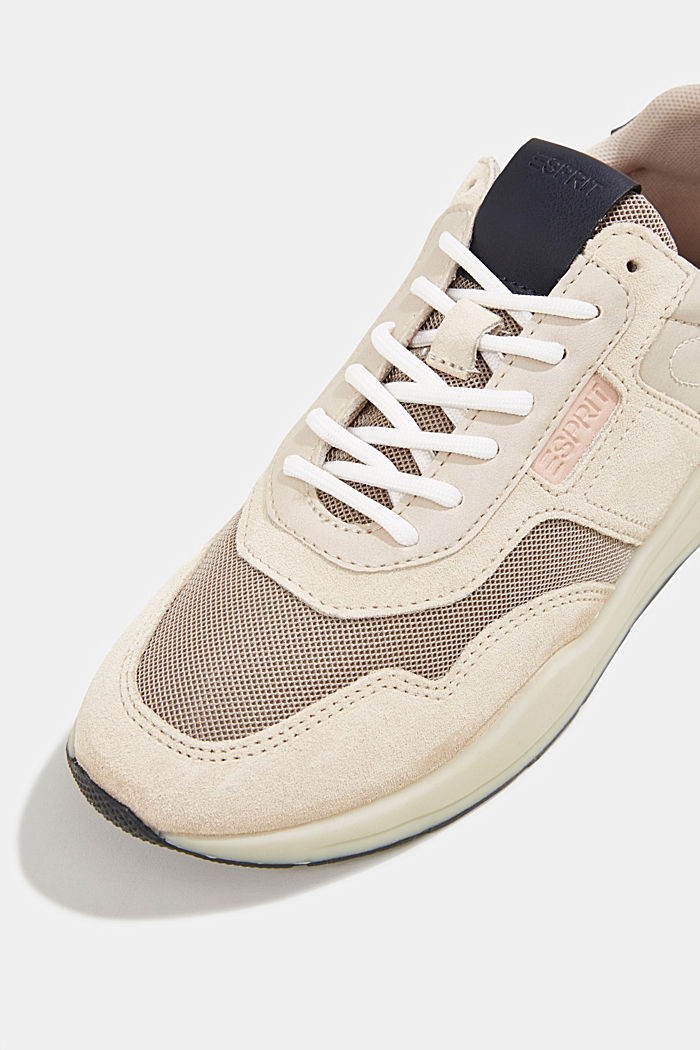 Lace-up shoes in a material mix, LIGHT BEIGE, detail image number 4
