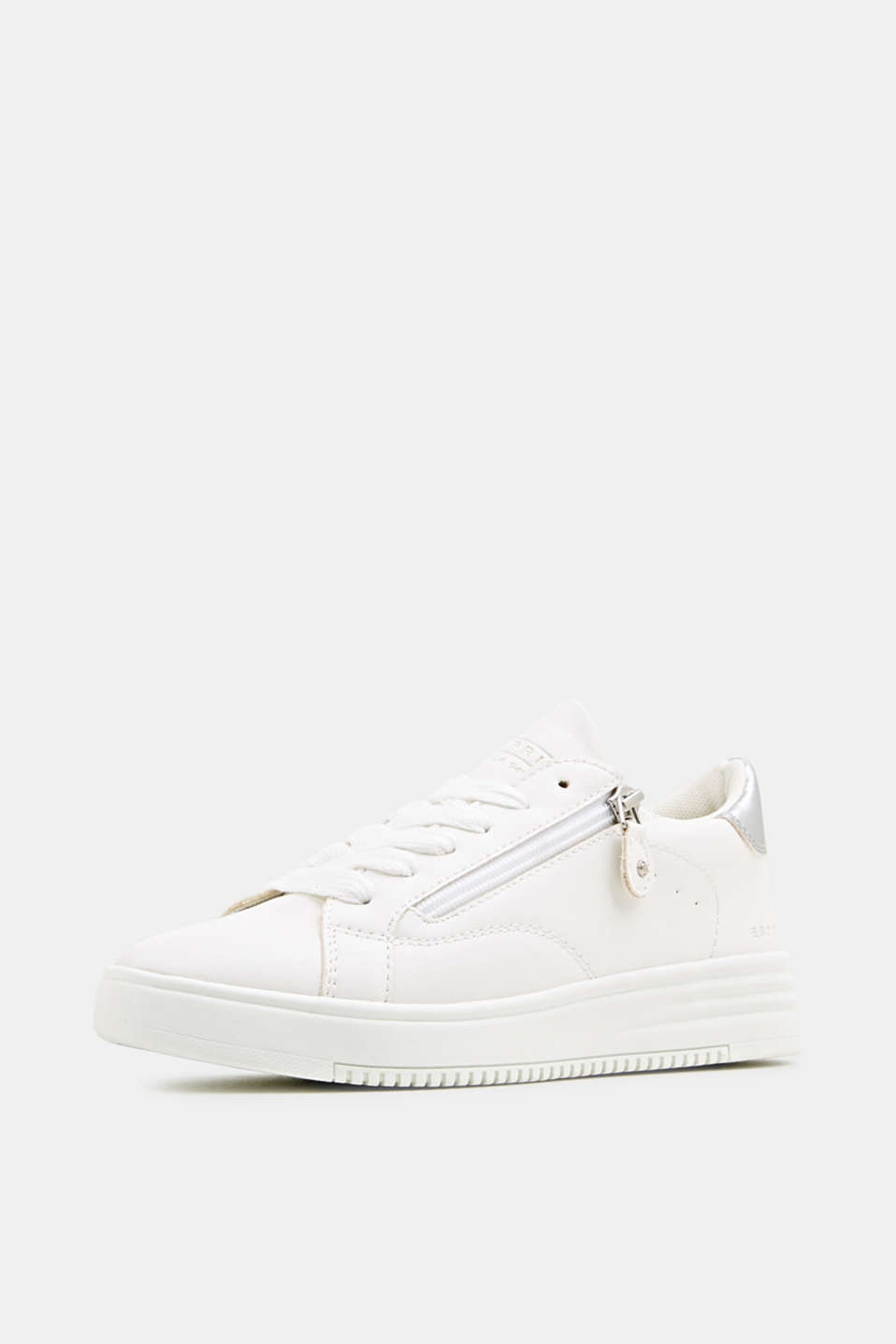 Faux leather trainers, WHITE, detail image number 1