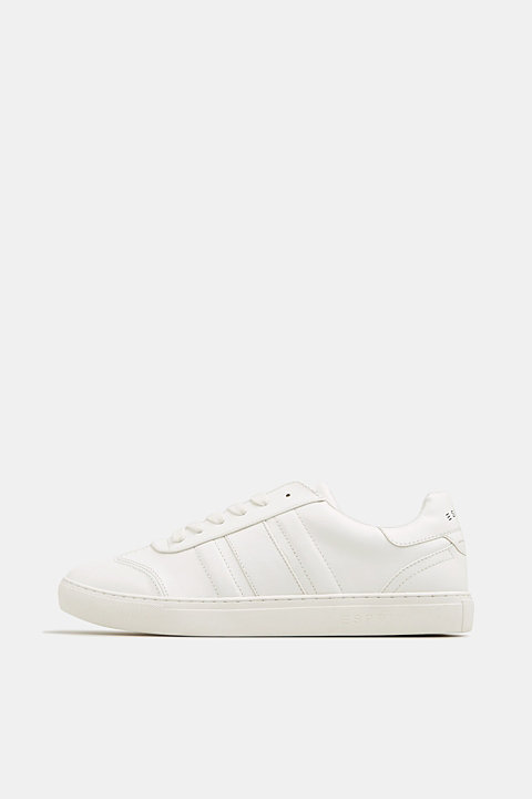 Faux leather trainers
