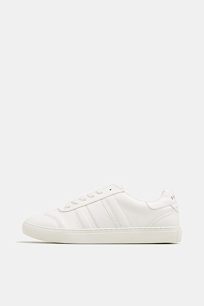 Sneakers in similpelle, WHITE, detail image number 0