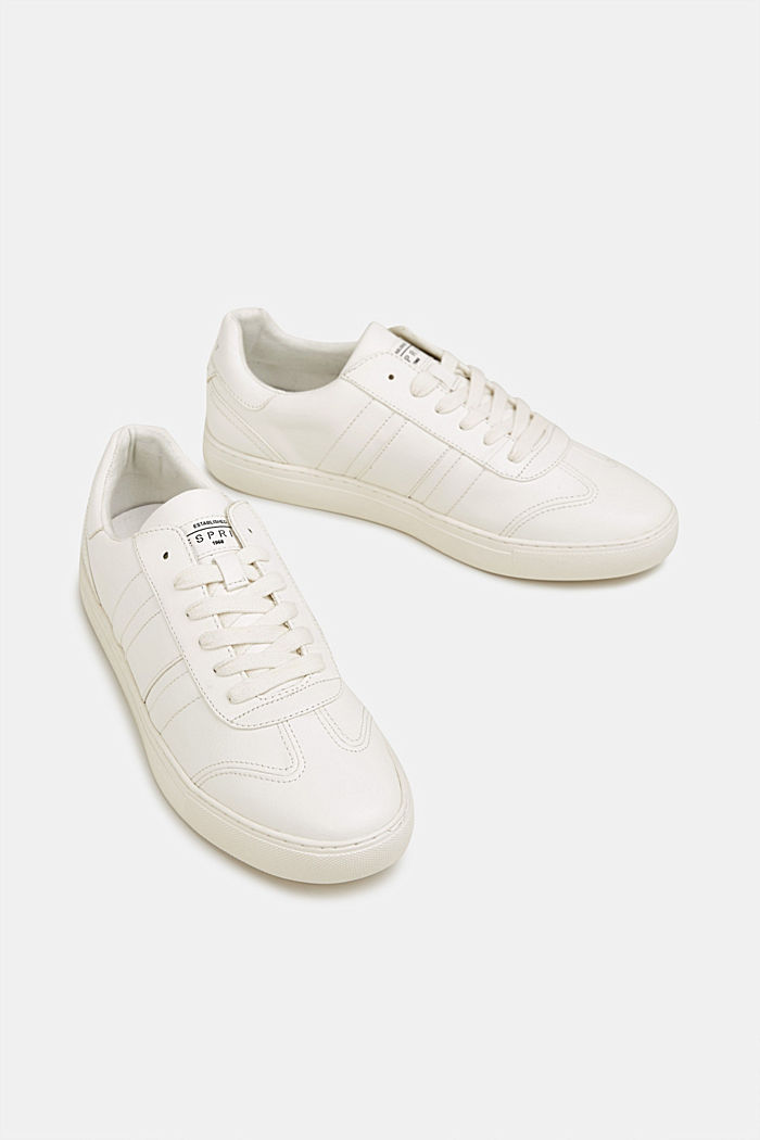Sneakers in similpelle, WHITE, detail image number 1