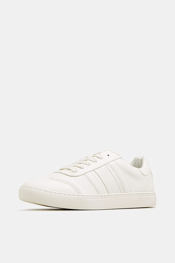 Sneakers in similpelle, WHITE, detail image number 2