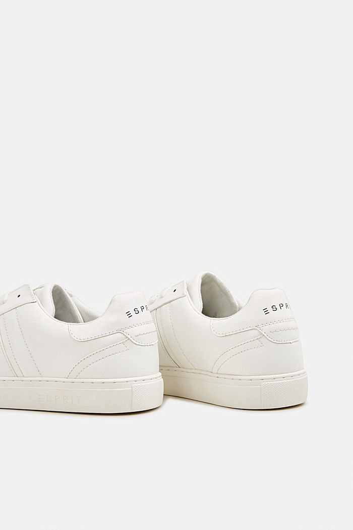 Sneakers in similpelle, WHITE, detail image number 5