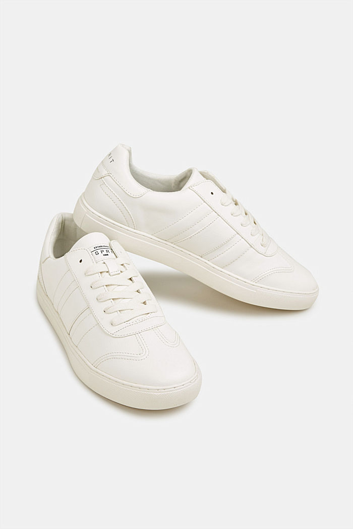 Sneakers in similpelle, WHITE, detail image number 6