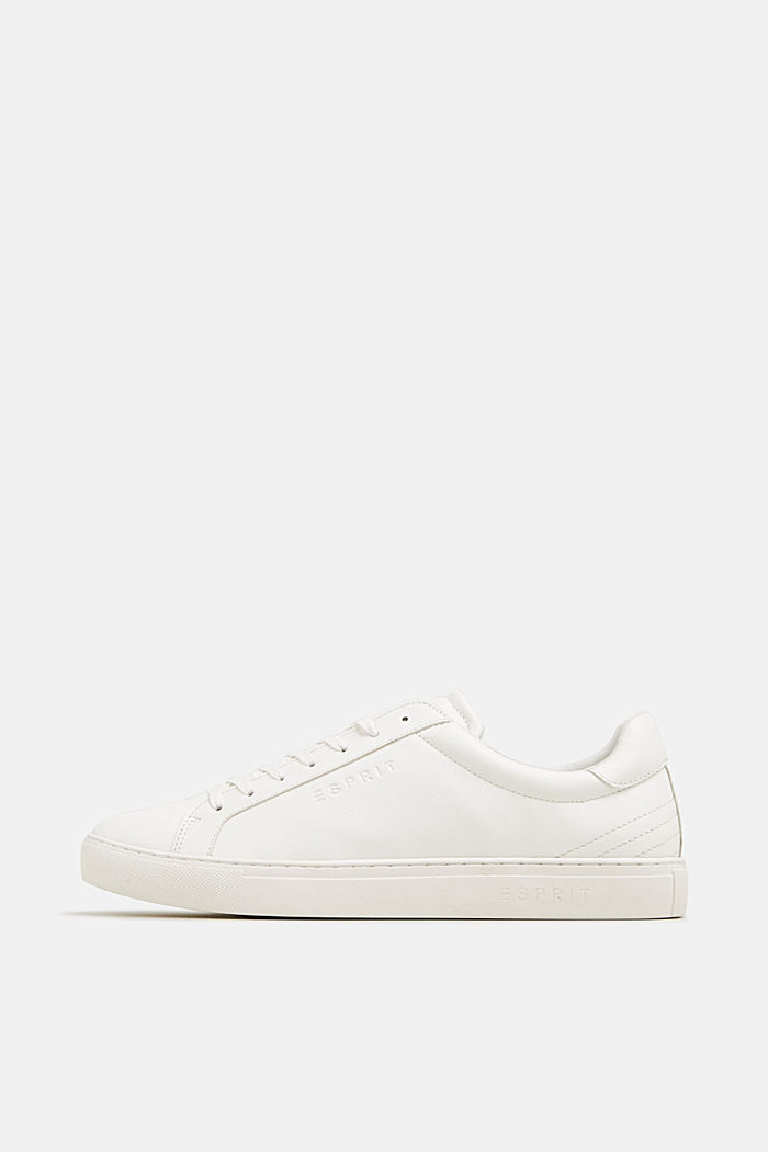 Faux leather trainers, WHITE, detail image number 0