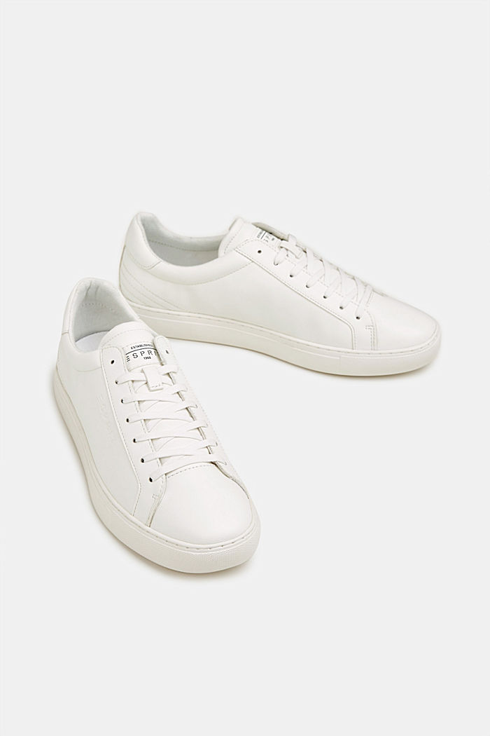 Sneaker in Leder-Optik, WHITE, detail image number 1