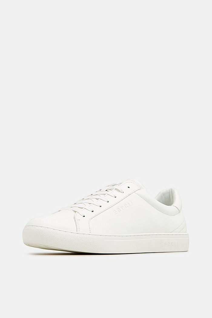 Faux leather trainers, WHITE, detail image number 2