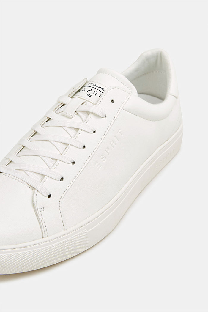Sneaker in Leder-Optik, WHITE, detail image number 4