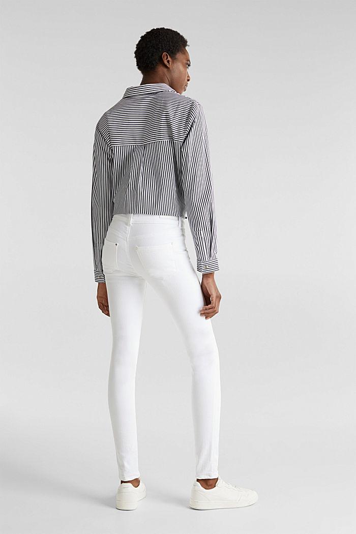 Shaping jeans met dubbele knoop, WHITE, detail image number 3