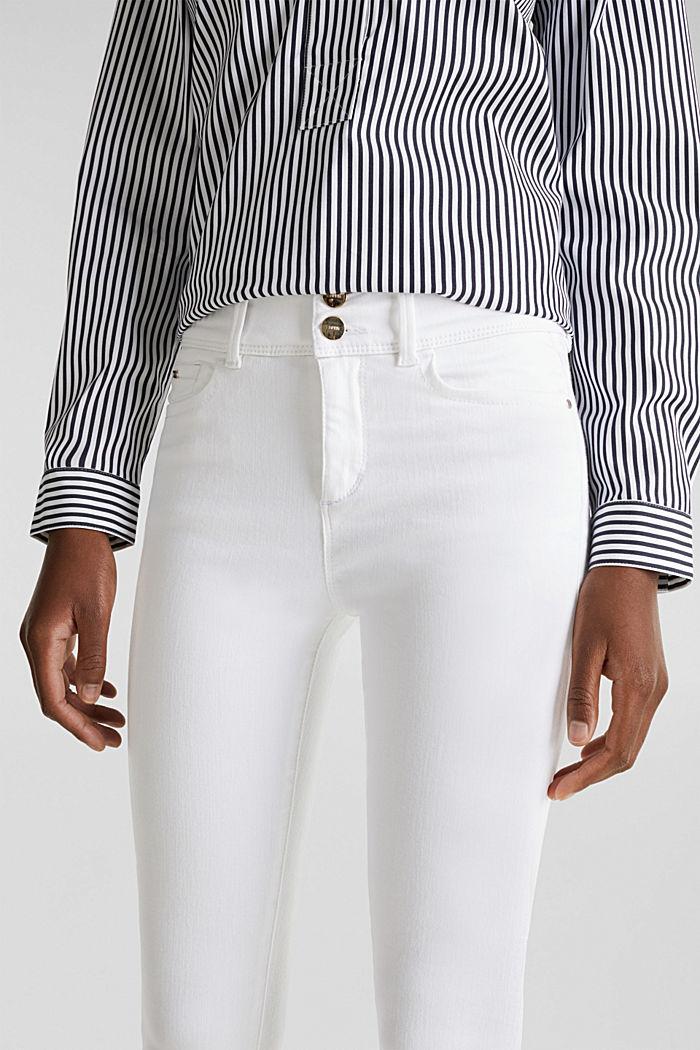 Shaping jeans met dubbele knoop, WHITE, detail image number 2
