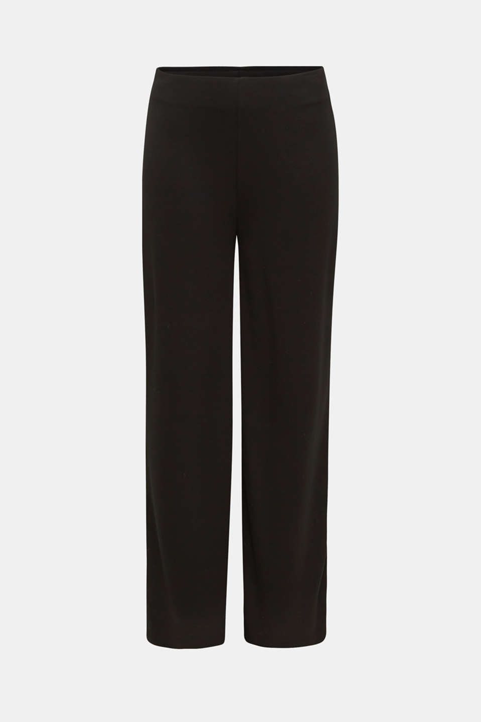 Jersey trousers with a wide leg, BLACK, detail image number 6