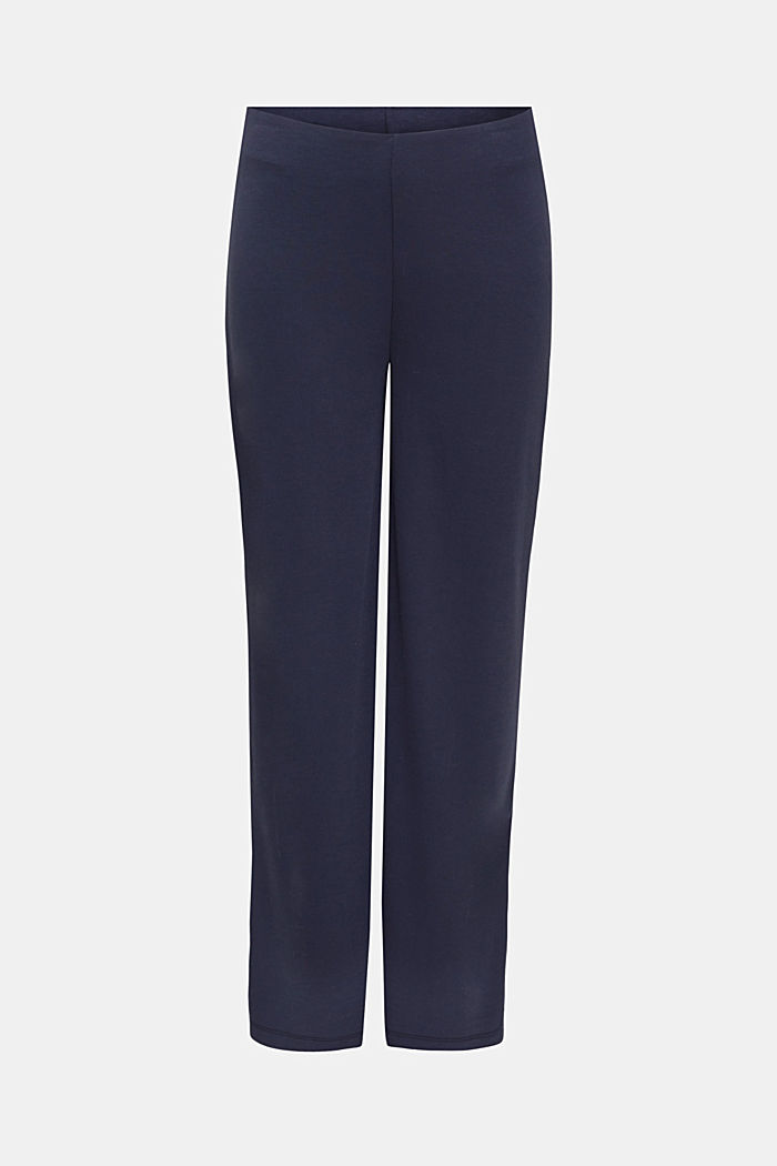 Jersey trousers with a wide leg, NAVY, detail image number 6